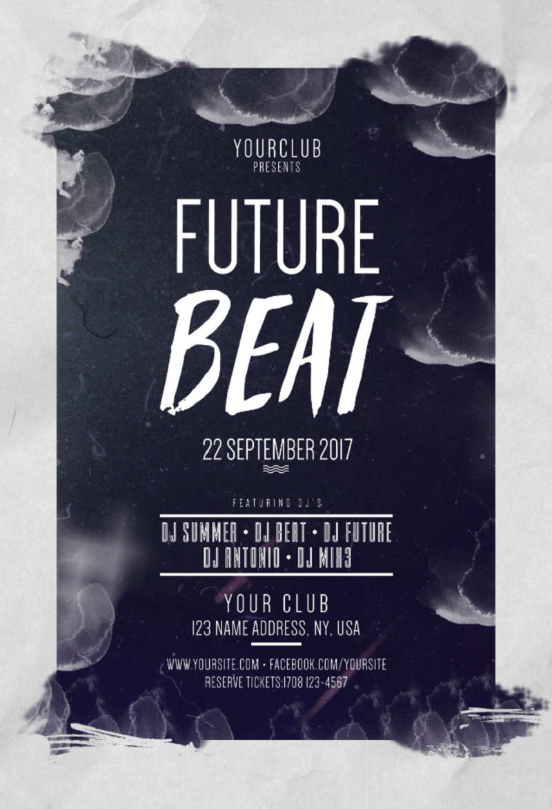 Future Beat Free PSD Flyer Template