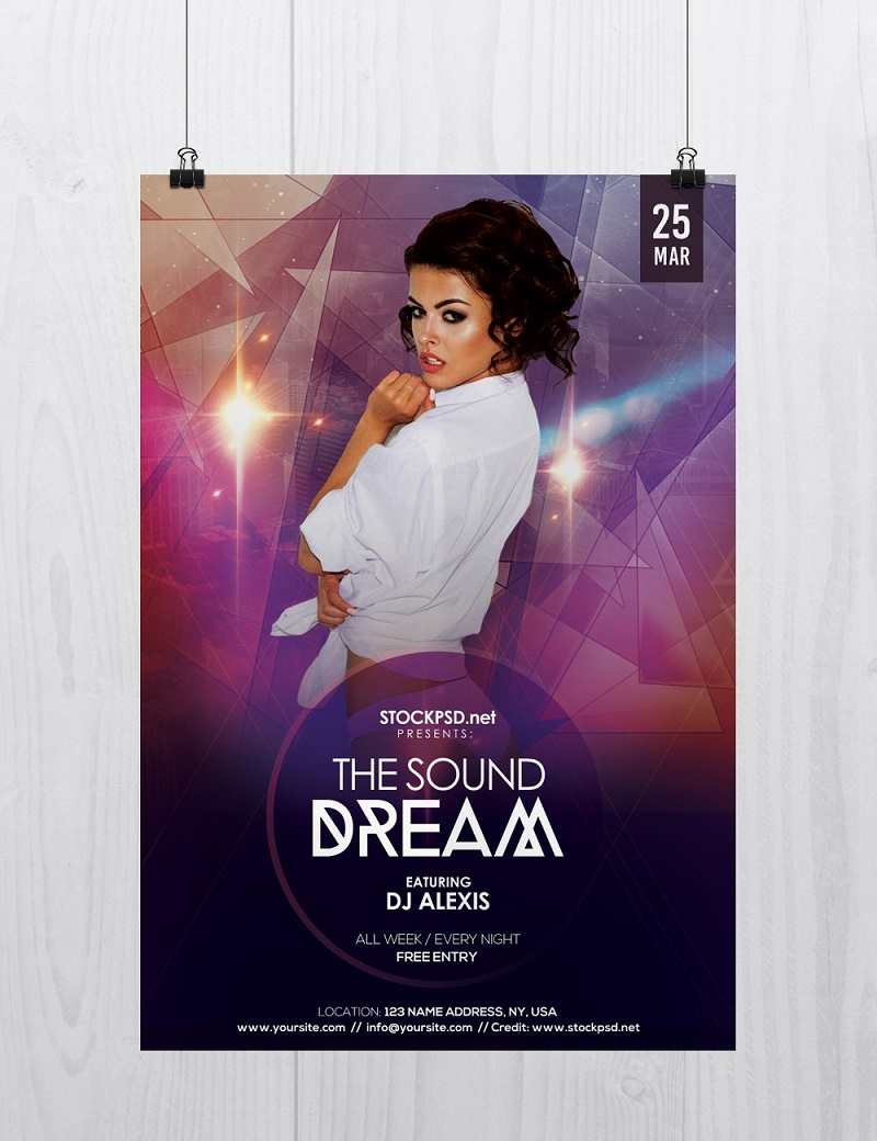 The Sound Dream Free PSD Flyer Template