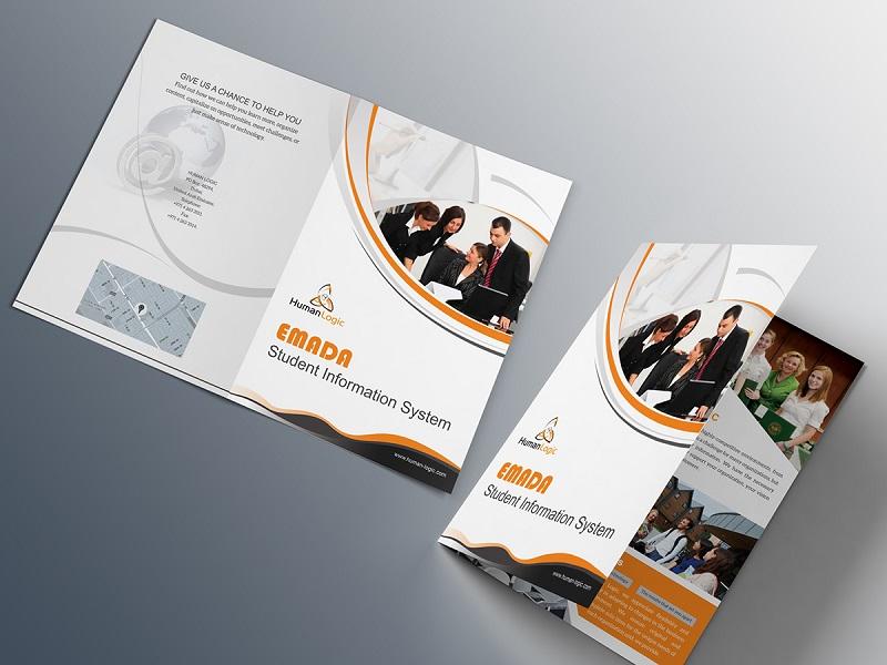 Free Creative Bi-fold brochure PSD