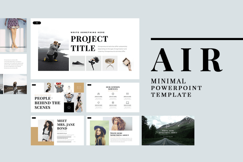 AIR Free Minimal Professional PowerPoint Template