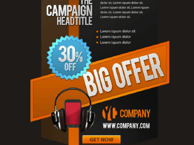 Free Promotional PSD Banner Template