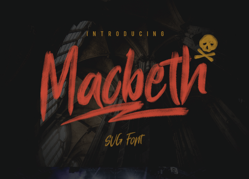 MACBETH Free SVG Font