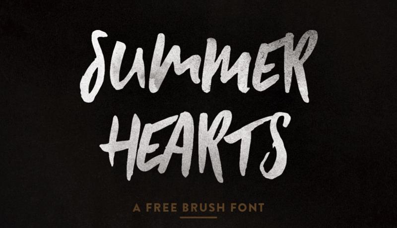 Summer Hearts Free Font