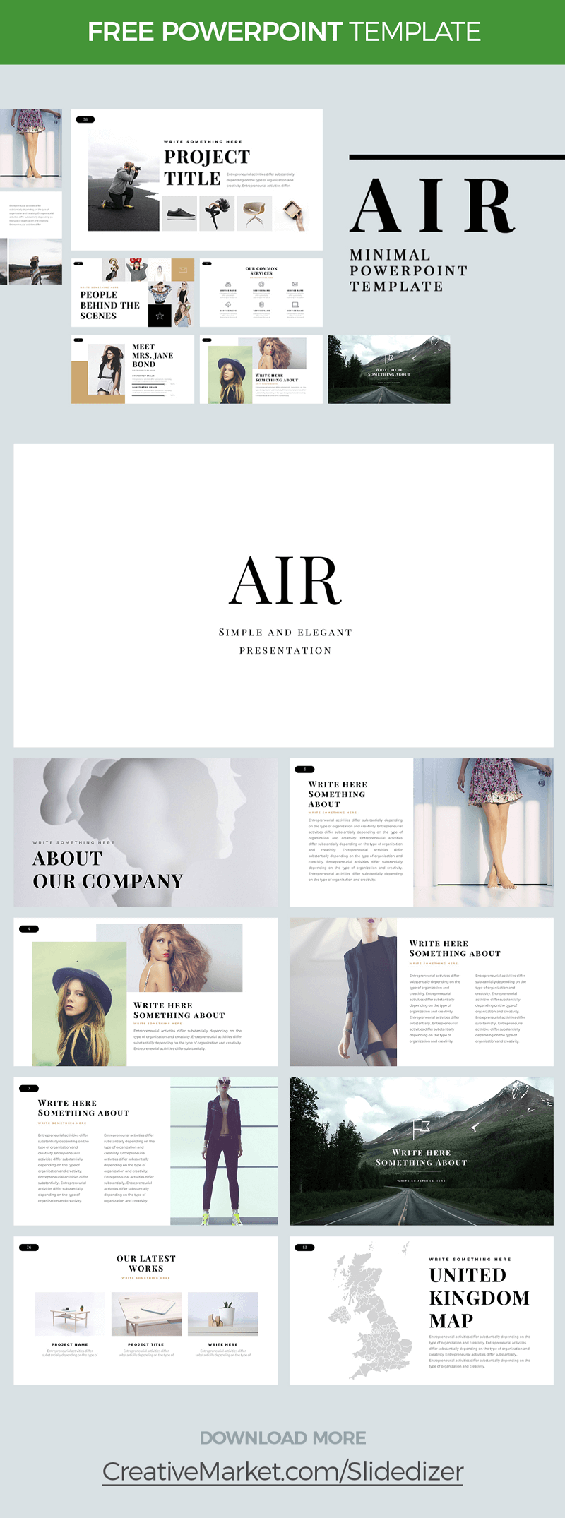 AIR - MINIMAL POWERPOINT TEMPLATE