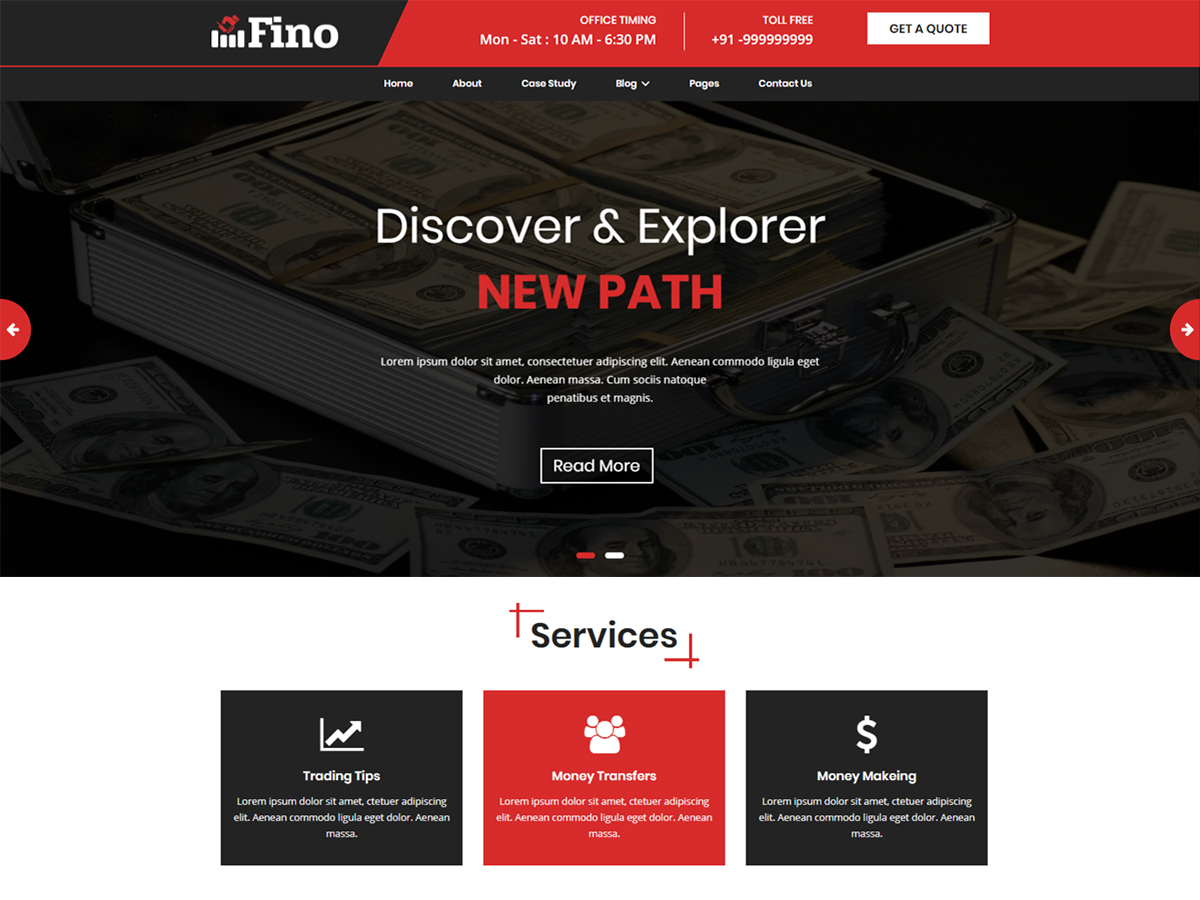 Fino free wordpress theme