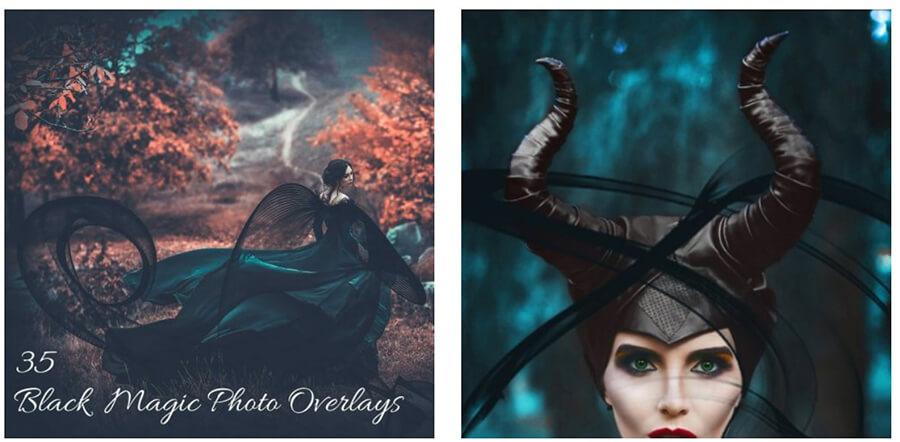 Black Magic Photo Overlays