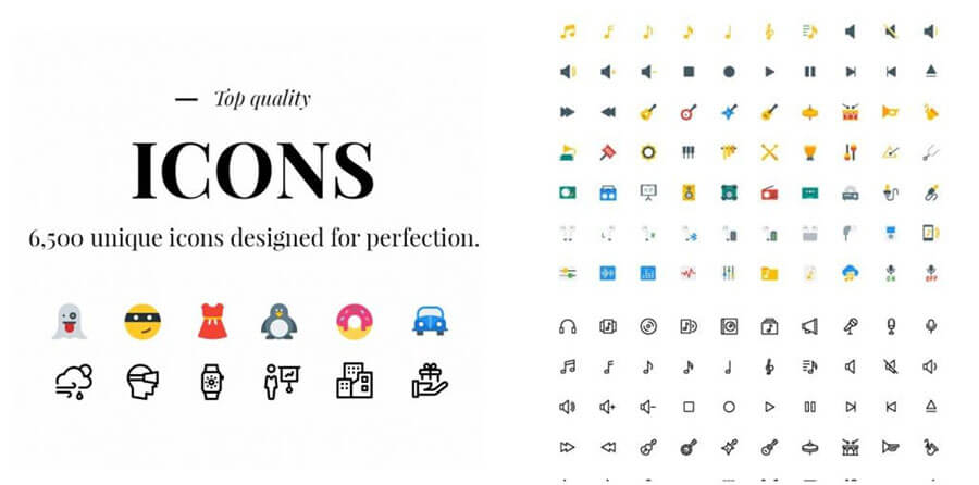 Unique Icons from Pixelicons