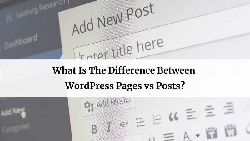 WordPress Pages vs Posts