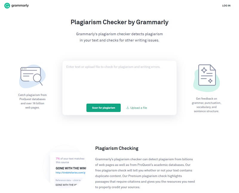 Grammarly Plagiarism Checker Tool